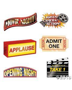 Jumbo Movie Night Cutouts