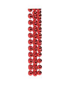 Jumbo Red Spirit Bead Necklace