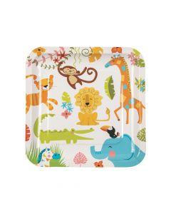 Jungle Baby Shower Paper Dinner Plates