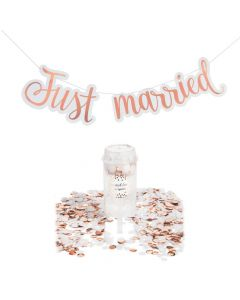 Just Married Confetti Kit