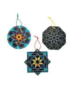 Kaleidoscope Magic Scratch Ornaments