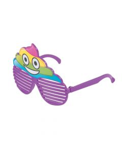 Kid's Rainbow Poop Shutter Shading Glasses