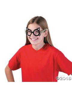 Kids Sassy Cat Paper Glasses