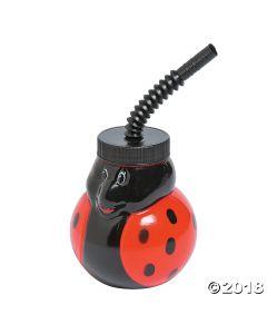 Ladybug Cups with Straws