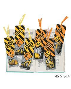 Laminated Construction Bookmarks