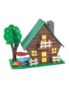 Large 3D Tabletop Camping Cabin Craft Kit