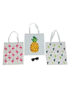 Large Fun Pattern Clear Tote Bags