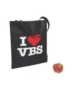 Large I Love VBS Tote Bags