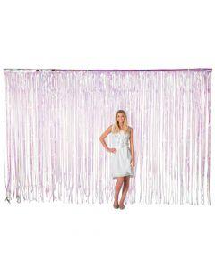 Large Iridescent Plastic Fringe Door Curtain