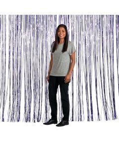 Large Purple Foil Fringe Curtain