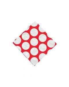 Large Red Polka Dot Beverage Napkins