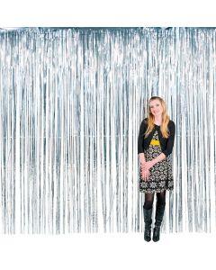 Large Silver Foil Fringe Curtain