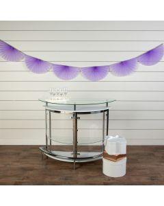 Lavender Semi Fanburst Tissue Garlands