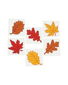 Leaf Glitter Tattoos