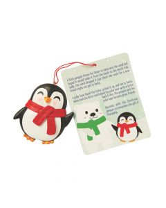 Legend of the Christmas Penguin Ornaments with Card