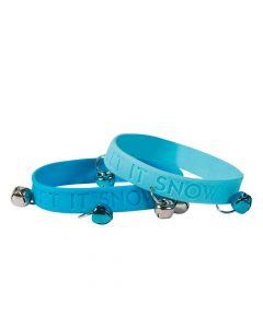 Let It Snow Jingle Bell Rubber Bracelets