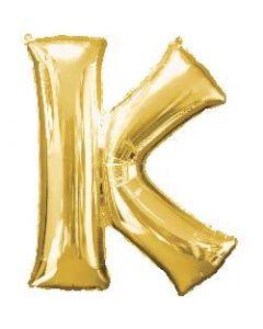 Letter K Gold Supershape Foil Balloon