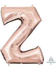 Letter Z Rose Gold Supershape Foil Balloon