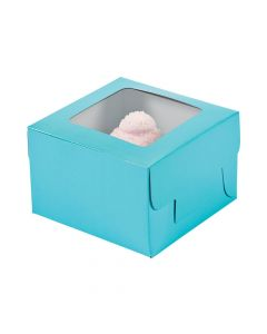 Light Blue Cupcake Boxes