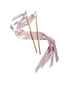 Light Pink Ribbon Wands