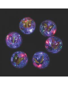 Light-Up Butterfly Glitter Water Bouncing Balls