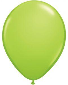 Lime Green 12cm Plain Round Latex Balloon