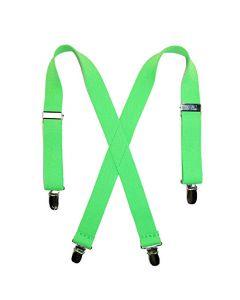 Lime Green Suspenders