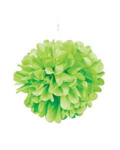 Lime Green Tissue Paper Pom-Pom Decorations