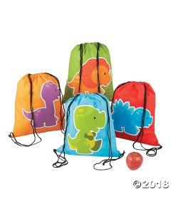 Little Dino Drawstring Backpacks