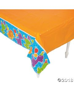 Little Dino Plastic Tablecloth