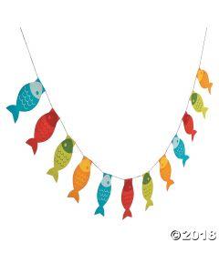 Little Fisherman Fish Paper Pennant Banner