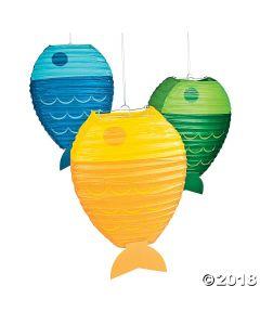 Little Fisherman Hanging Paper Lanterns