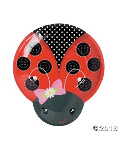 Little Ladybug Paper Dinner Plates