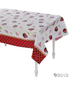 Little Ladybug Plastic Tablecloth