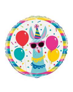 Llama Birthday Mylar Balloon