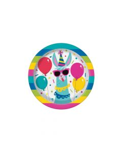 Llama Birthday Paper Dessert Plates