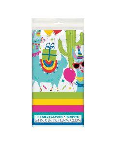 Llama Birthday Plastic Tablecloth