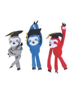 Long Arm Graduation Stuffed Sloths