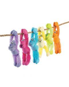 Long Arm Neon Stuffed Gorillas