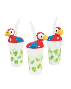 Luau Cups with Lids and Straws