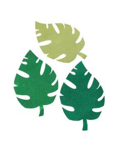 Luau Palm Leaf Glitter Cutouts
