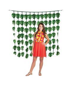 Luau Palm Leaves Curtain Backdrop
