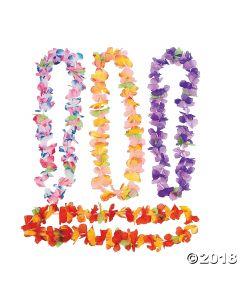 Luau Ruffle Petal Flower Leis