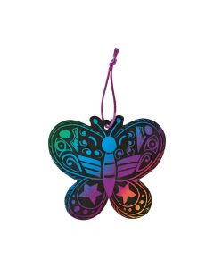 Magic Color Scratch Butterfly Ornaments