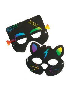 Magic Color Scratch Halloween Masks