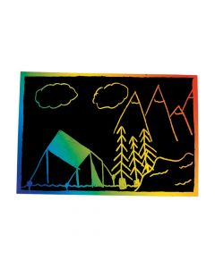 Magic Color Scratch Postcards