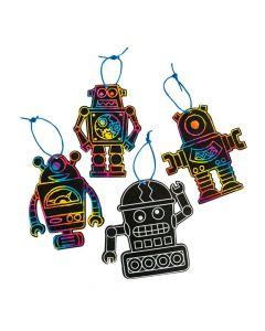 Magic Color Scratch Robot Ornaments