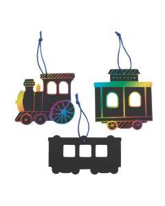 Magic Color Scratch Train Ornaments