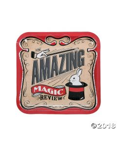 Magical Party Square Paper Dinner Plates