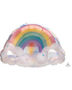 Magical Rainbow Holographic Super Shape Balloon